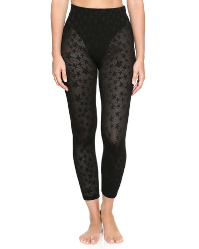 Mesh Star French Cut Leggings