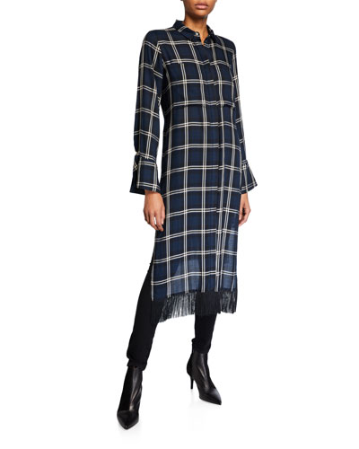 Delphine Fringe Shirtdress