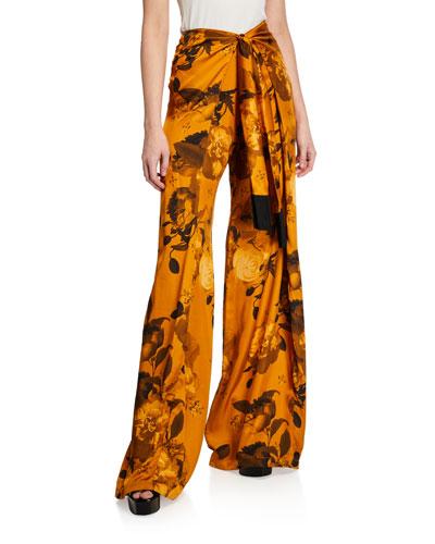 Georgina Wrap-Tie Trousers