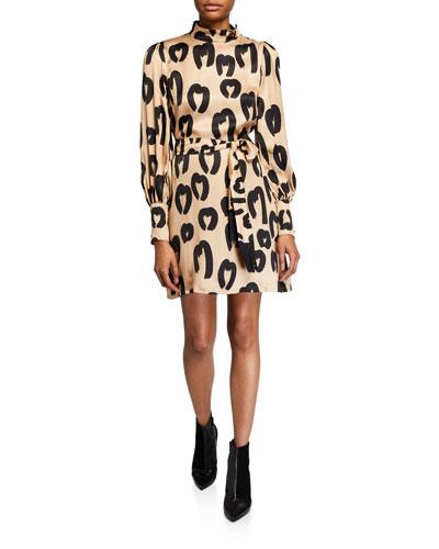 Johanna Animal-Print Dress