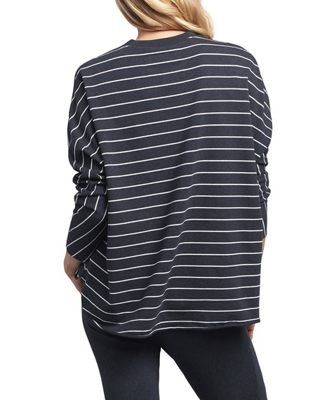 Frank & Eileen Tee Lab Striped Oversized Continuous Sleeve Sweatshirt