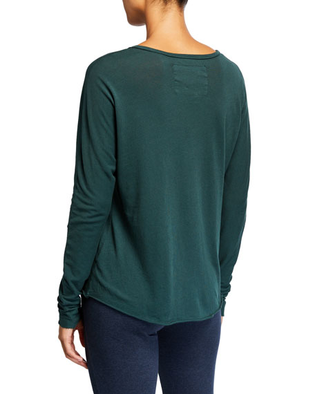 Frank & Eileen Tee Lab Continuous-Sleeve Solid Cotton Tee