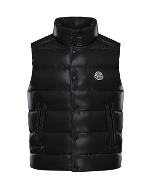 61f07e80106 Moncler Quilted Nylon Snap-Front Puffer Vest, Size 8-14