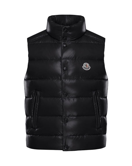 Moncler Quilted Nylon Snap-Front Puffer Vest, Size 8-14