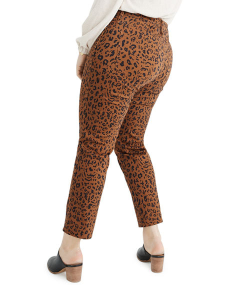 Madewell High-Rise Leopard-Print Stovepipe Jeans - Inclusive Sizing