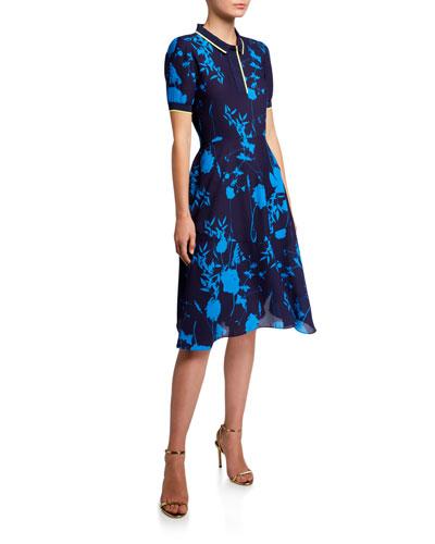 Ohlah Bluebell Short-Sleeve Collared Midi Dress