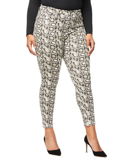 Image 2 of 5: Good Legs Snake-Print Skinny Jeans - Inclusive Sizing