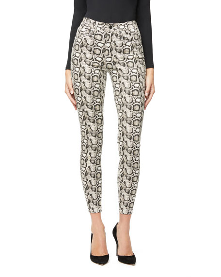 Image 3 of 5: Good Legs Snake-Print Skinny Jeans - Inclusive Sizing