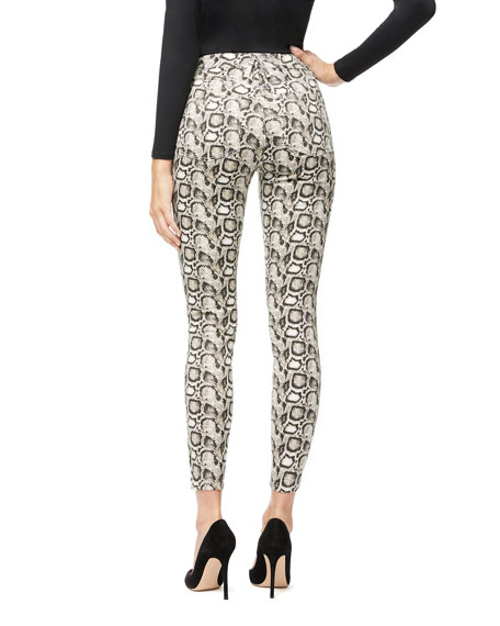 Good American Good Legs Snake-Print Skinny Jeans - Inclusive Sizing