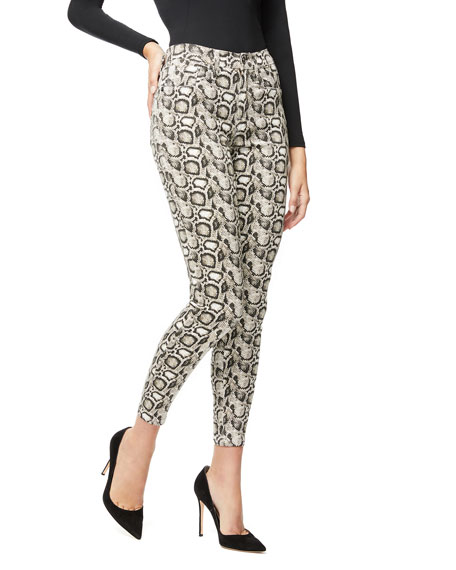 Image 1 of 5: Good Legs Snake-Print Skinny Jeans - Inclusive Sizing