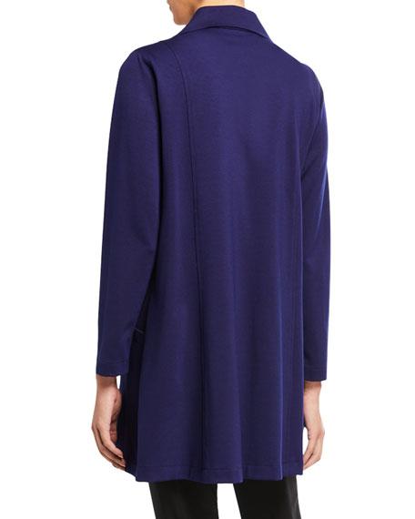 Caroline Rose Plus Size Zip-Front Ponte Luxe Walking Jacket