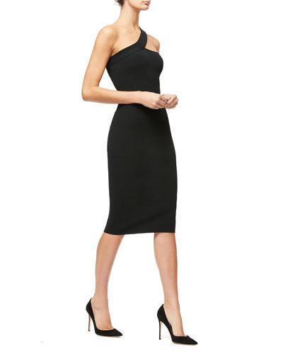 Asymmetric Rib Cocktail Dress - Inclusive Sizing