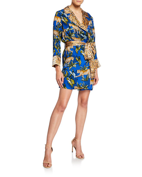 Le Superbe Moonshadows Short Robe Dress