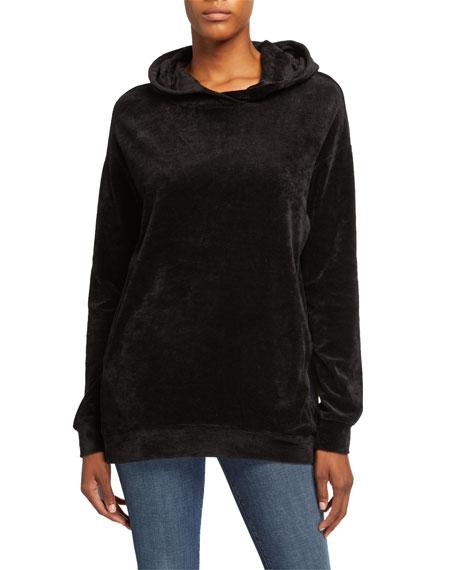 Majestic Filatures Oversized Velour Hoodie Sweatshirt