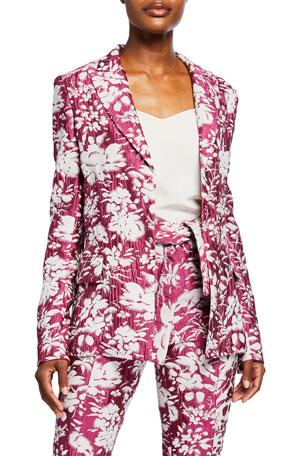 Alexis Raquelle Belted Jacquard Jacket