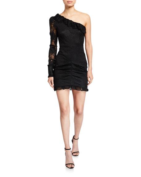 Alexis Ilana One-Shoulder Lace Cocktail Dress