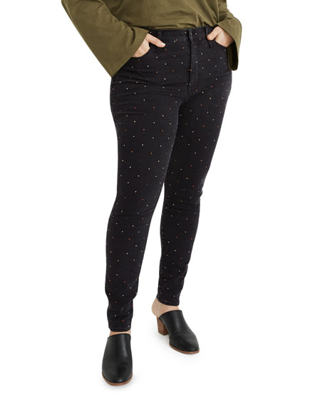 Madewell High-Rise Metallic Dot Ankle Skinny Jeans