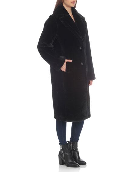 Avec Les Filles Long Bonded Faux-Fur Coat