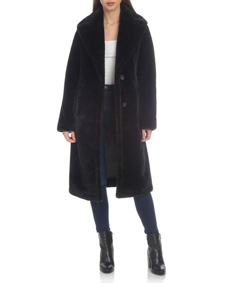 Avec Les Filles Long Bonded Faux Fur Coat by Avec Les Filles