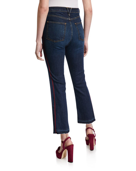 Veronica Beard Carolyn Baby Boot-Cut Jeans - Extended Sizes