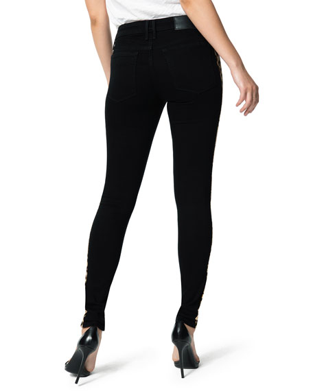 Joe's Jeans The Charlie Ankle Skinny Jeans with Sequined Stripes