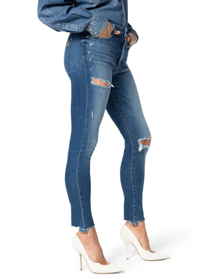 Joe's Jeans The Charlie Distressed Ankle Skinny Jeans