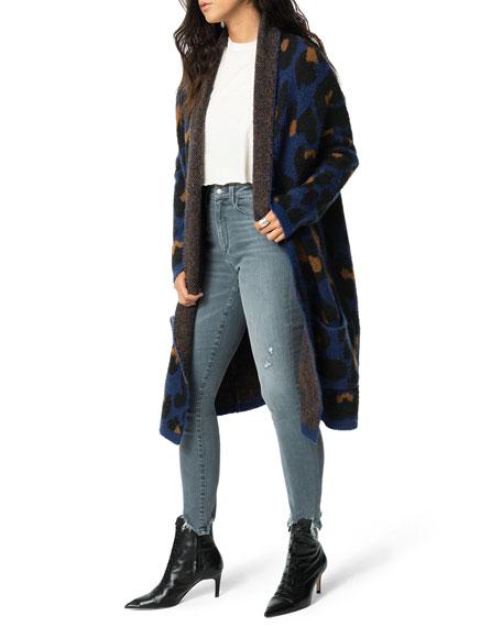Joe's Jeans Leopard-Print Open-Front Cardigan