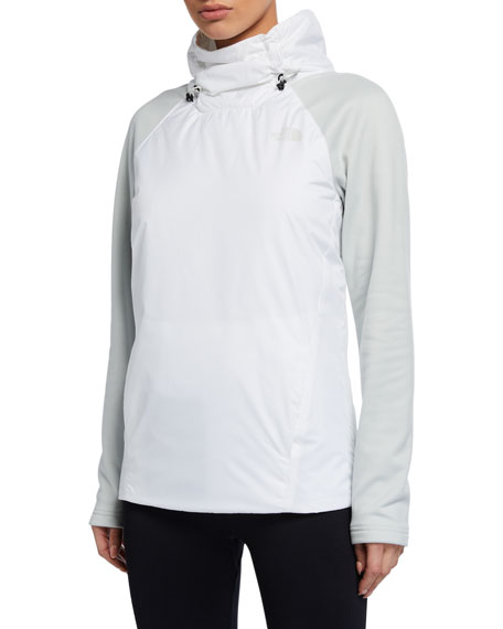Image 1 of 2: The North Face Canyonlands Insulated Hybrid Pullover Jacket, White/Gray