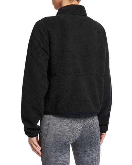 The North Face Dunraven Sherpa Fleece Zip-Front Crop Jacket