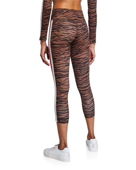Image 2 of 3: Pam & Gela Tiger Stripe High-Rise 7/8 Leggings