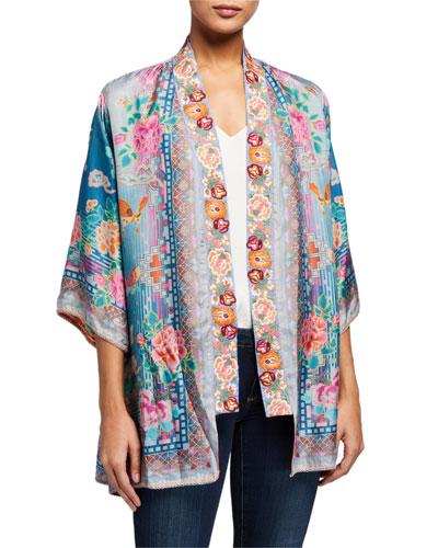 Nova Printed Tie-Front Kimono