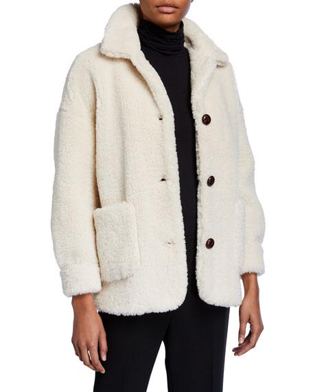 Metty Faux Fur Teddy Coat by Mkt Studio