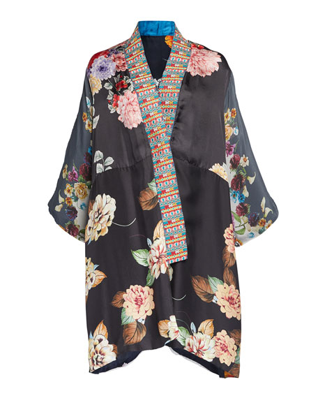 Johnny Was Plus Size Payden Floral Kimono Jacket