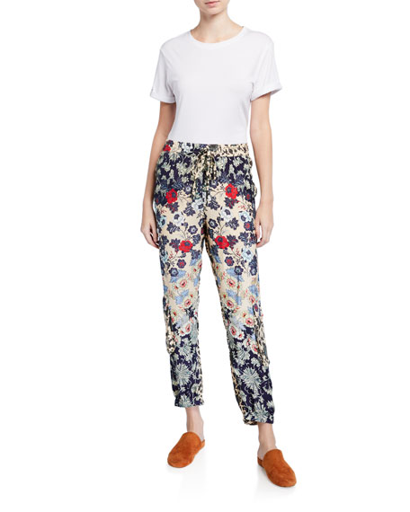 Johnny Was Itabora Floral Print Pull-On Pants