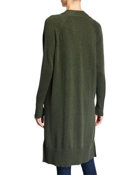 Autumn Cashmere Open-Front Cotton Maxi Cardigan
