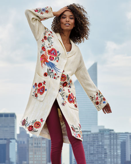 Johnny Was Ovadio Embroidered Coat