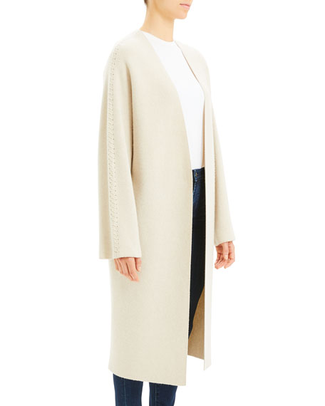 Theory Whipstitch Wool-Cashmere Coat