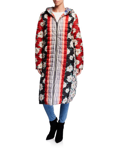 Tessa Reversible Quilted Parka Coat