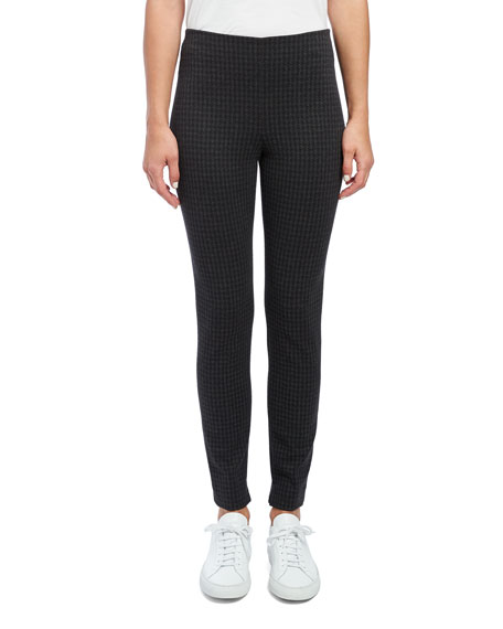Image 2 of 4: Theory Houndstooth Knit Skinny Leggings
