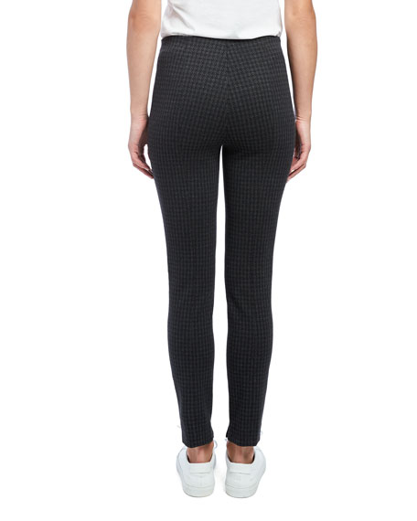 Image 3 of 4: Theory Houndstooth Knit Skinny Leggings
