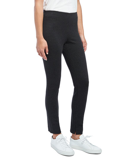 Image 4 of 4: Theory Houndstooth Knit Skinny Leggings