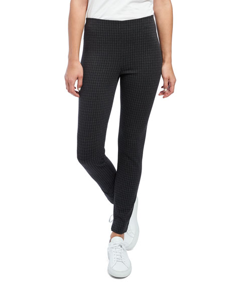 Image 1 of 4: Theory Houndstooth Knit Skinny Leggings