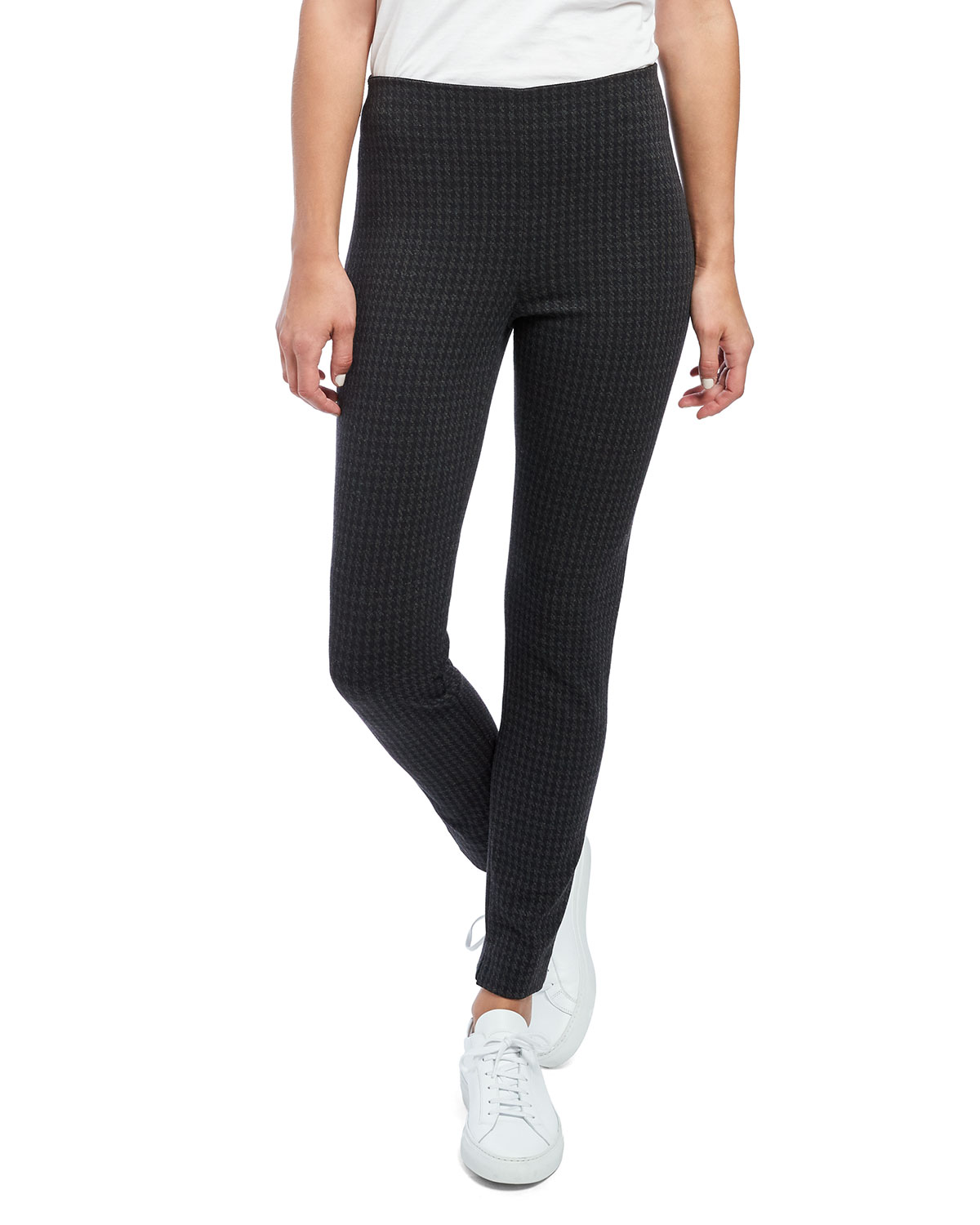 Theory Houndstooth Knit Skinny Leggings