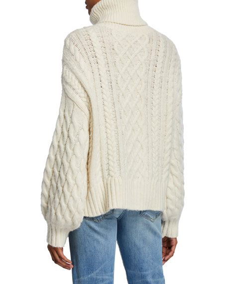 A.L.C. Nevelson Asymmetric Cable-Knit Sweater