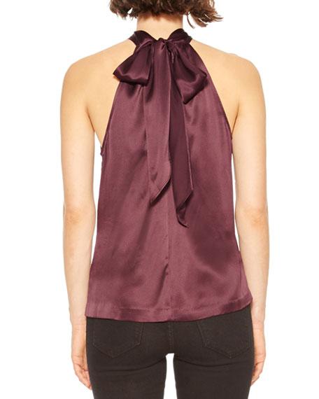 Parker Dallas Twisted Silk Halter Top