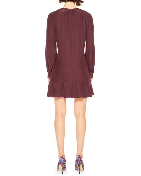 Parker Calantha Button-Front Silk Short Dress