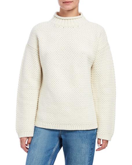 Theory Basket Stitch Turtleneck Pullover Sweater
