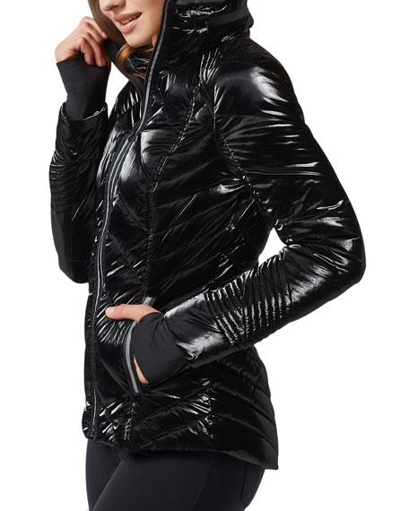 Blanc Noir Super Hero Puffer Jacket with Reflective Trim