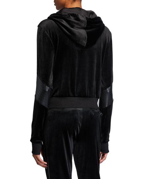 Blanc Noir Interpol Cropped Velvet Hood