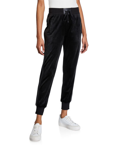 Interpol High Rise Velvet Jogger Pants